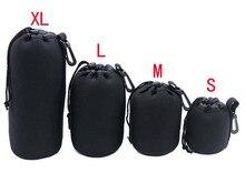 10 יח\חבילה S M L XL Neoprene עמיד למים רך עדשת המצלמה פאוץ תיק מקרה גודל S M L
