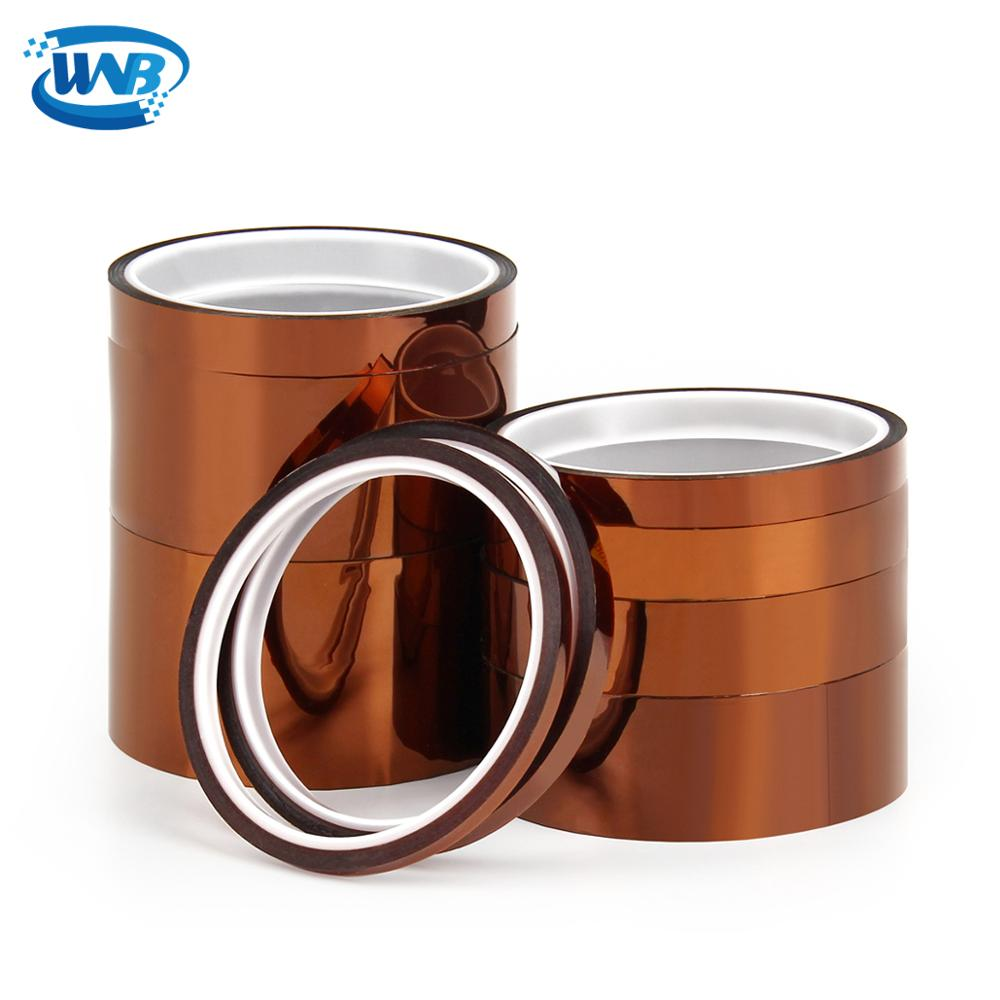 WNB New 25m Heat Resistant Polyimide Tape One-side Self-adhesive High Temperature Thermal Protection Insulation Anti Static Film