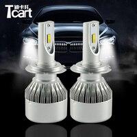 Tcart 1 Set Auto Led Koplamp koplamp Auto led-lampen High Power Dimlicht met mute fan C6F H7 Voor VW Volkswagen Jetta 2010-2012
