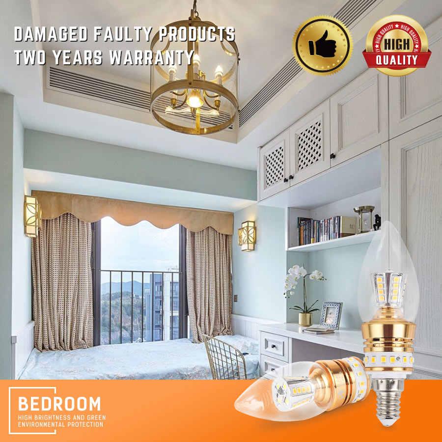 E14 LED Light Bulb AC175-265V Energy Saving Bulbs Discolourable illumina Super Bright Indoor Domestic Balcony Lamp 8W
