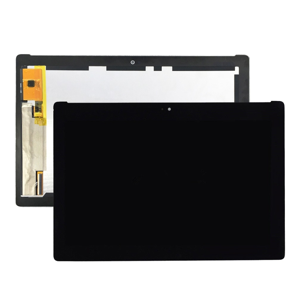 LCD Screen and Digitizer Full Assembly for Asus ZenPad 10 Z300M / P021 (Yellow Flex Cable Version) wide flex cable version 100