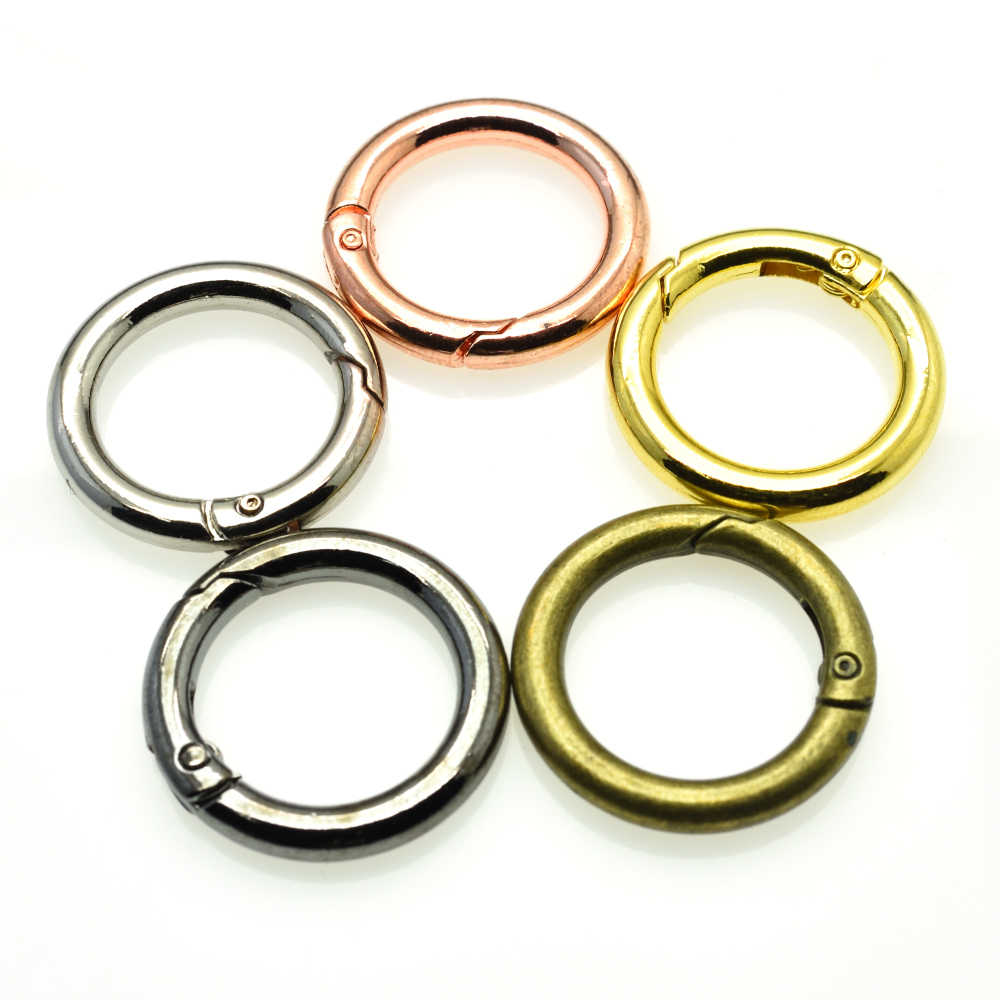 SilverGoldRose Gold O-Ring for Bag,Metal rings,Purse strap rings,Purse ring,O rings,Spring clasp,Round ring