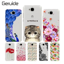 Cute Painted Cell Phone Case For Huawei Honor 4C Pro TIT-AL00 Y6 Pro TIT-L01 Enjoy 5 Honor Holly 2 Plus Shell Cover Skin Housing huawei honor 4c pro white