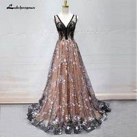 Elegant Lace Evening Dress Long Flower Occasion Party Dress Evening Gown Formal Dresses Robe De Soiree