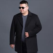 Wool Blend 7xl 8XL Men Fashion black Jackets Men Slim Fits Coats Business Mens Long Winter