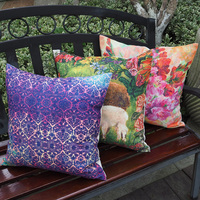 Wholesale 3D Flower Cushion Cover 45x45cm Apply To Decorative Throw Pillows For Sofa Decorative Cushion Covers