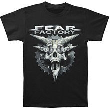 New Fear Factory Mechanize Rock Band Men's Black T-Shirt Size S To 3XL 2017 Fashion Short Sleeve Black T Shirt Top Tee