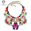 2016 New Fashion Za Brand Big Luxury Crystal Statement Necklaces & Pendants Vintage Maxi Women Accessories Chunky Chain Collares