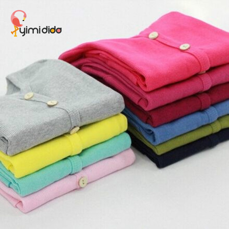 100% Cotton Girls Brand Jacket 2018 Spring Autumn Boys White Grey Knitting Jackets Fashion Kids Clothes Button Cardigan Coat 2y