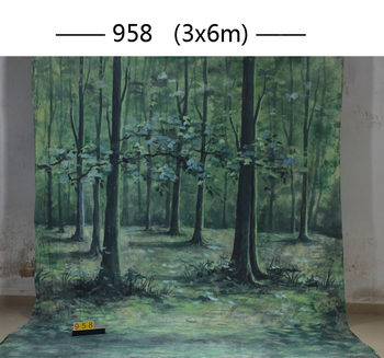 2017 new10ft*20ft Hand Painted Muslin scenic Backdrops for photography ,photo studio background backdrop958photography backdrops