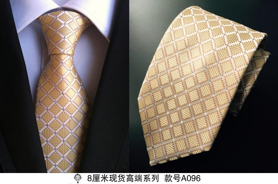 8 cm dasi leher untuk pria mewah 100% sutra mens dasi 8 cm corbata - Aksesori pakaian - Foto 3