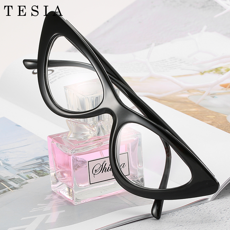 Cat Eye Myopia Clear Glasses Frame Women Designer Eyeglasses For Sight Optical Frames Black Red Pink Nerd Glasses Oculos De Grau