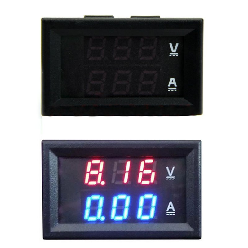 <font><b>DC</b></font> <font><b>100V</b></font> <font><b>50A</b></font> Voltmeter Ammeter Blue + Red <font><b>LED</b></font> Amp <font><b>Dual</b></font> <font><b>Digital</b></font> Volt Meter Gauge Voltage Meters image