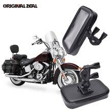 Bolsa universal para motocicleta, suporte para celular, à prova d água, suporte para iphone, gps