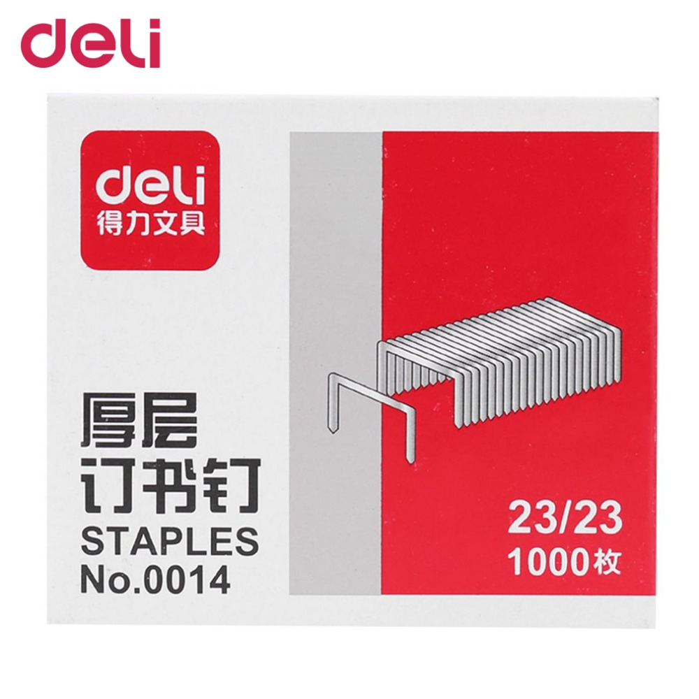 Deli 0014 1000pcs/box  23/23 Staples For Stapler Heavy Duty Silver Color School Office Metal Staples School Office SuppliesDeli 0014 1000pcs/box  23/23 Staples For Stapler Heavy Duty Silver Color School Office Metal Staples School Office Supplies