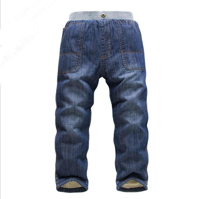 Novo inverno e outono kk-coelho crianças de jeans crianças jeans meninos das meninas do bebê adicionar calça jeans lã grossas crianças quentes calças 2-6Y