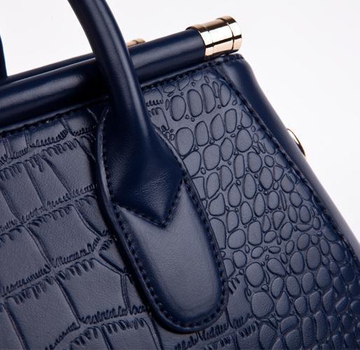 BVLRIGA Genuine leather bag 2017 Women bag Women messenger bags handbags women famous brands Crocodile Shoulder bag High quality