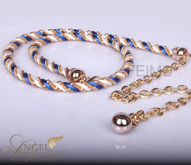 fashion lady's women's strap casual female Waist chain Metal braided decoration simple all-match dress clothing accessories belt