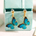 Butterfly Colorful Enamel Alloy Stud Earring for Women Earrings Fashion Jewelry ER-015
