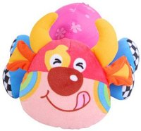 Candice Guo Brand New Super Cute Baby Toys Colorful Cattle Plush Toy Baby Hand Hold1pc