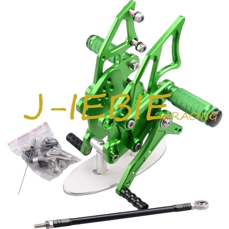 CNC Racing Rearset Adjustable Rear Sets Foot pegs Fit For Kawasaki NINJA EX300 300R 2013 2014 2015 GREEN cnc racing rearset adjustable rear sets foot pegs fit for honda cbr600 cbr 600 f4 f4i 1999 2000 2001 2002 2003 2004 2005 2006