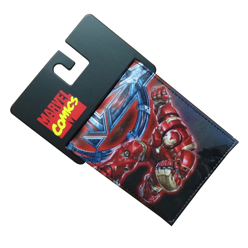 Comics DC Marvel Wallet Avengers Ironman Super Hero Wallets Men PU Leather Purse cartera Casual Clutch Bags billetera hombre harrms genuine leather mens wallets famous brand navy men wallet fashion purse billetera cartera hombre marca