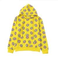 2018 Autumn Cute Donut Print Pullovers Women Hoodies Sweatshirts Yellow BTS Unisex Sudaderas Mujer Fashion Sportwear