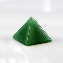 цена на 2015 30mm 100% natural Green Aventurine quartz crystal pyramid Chakra Stones Healing Reiki Free shipping