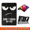 "Fashion painting cover case PU leather stand protective cover shell for 2016 Asus Zenpad Z8 7.9"" ZT581KL(Zenpad 3 8.0 Z581KL)"