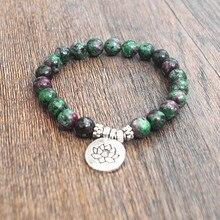 Natural Stone Beads Strand Bracelet Yoga Chakra Mala Prayer Bracelets Women Men Charm Healthy Jewelry Tibetan Stretch Bracelet