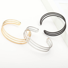 Glossy bracelet fashion wild three-layer Simple classic hot sale open