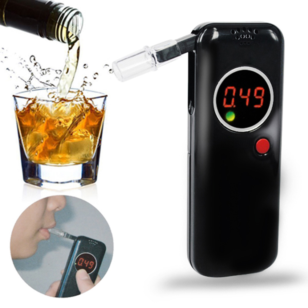 Digital LCD Display Alcohol Tester With 6pcs Mouthpieces