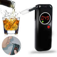 Alcohol Tester with 6pcs Mouthpieces LCD Display Digital Professional Police Alert Breath Alcohol Tester Device Breathalyzer