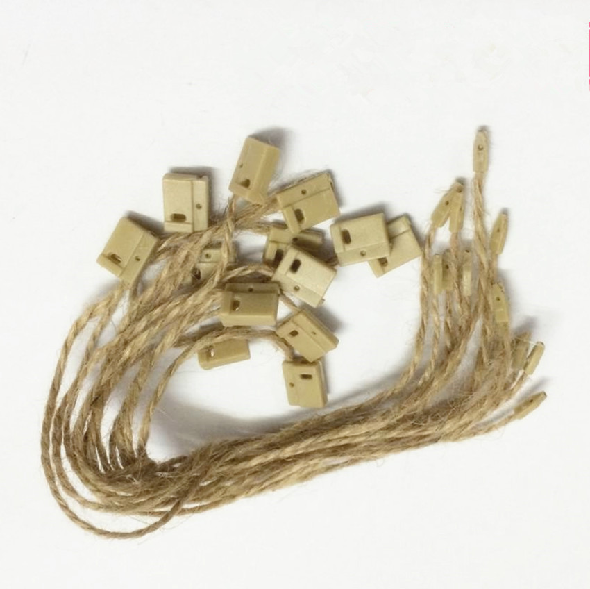 Free Shipping Jute String tag For Kraft Paper Gift Tags Label Luggage Wedding Blank Jute Strings tag lock