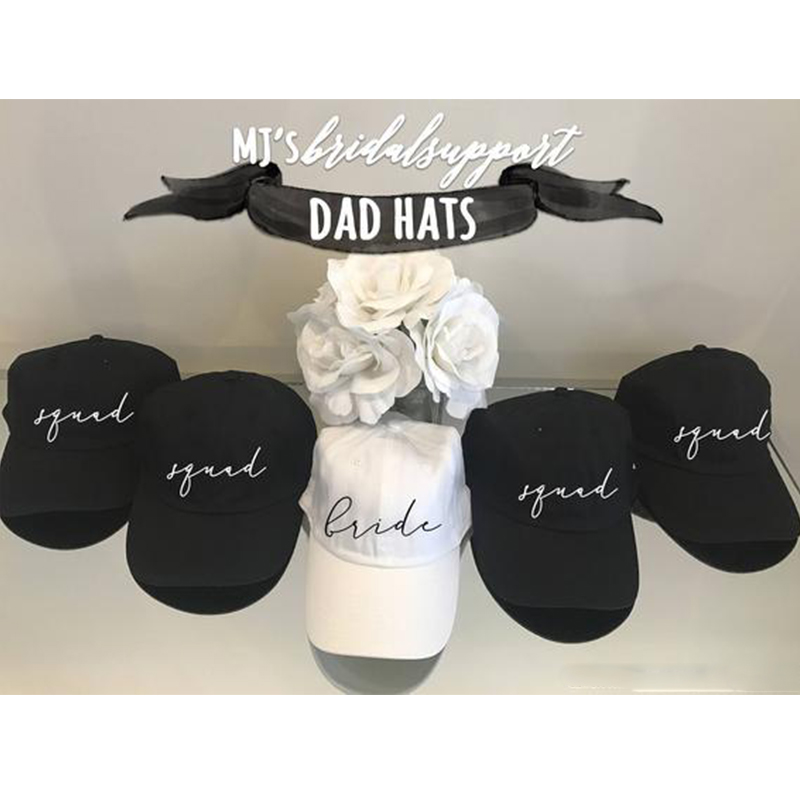 Bride and Bridesmaid dad hat embroidery 100% cotton   Baseball     Cap   Bridal Party hats honeymoon casual   caps   Panama all matched