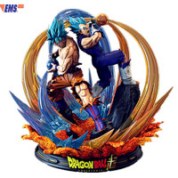 Presale Dragon Ball Super Blue Goku & Super Blue Vegeta Joint Operations Resin Statue Model (Delivery Period: 60 Days) X450