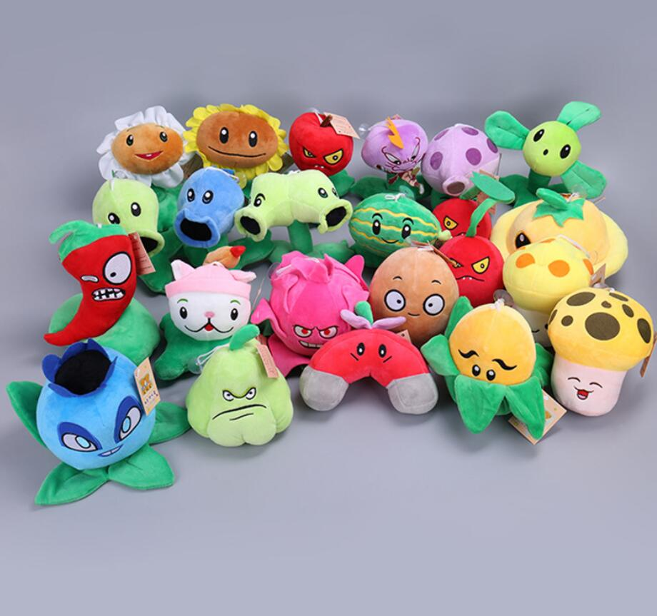 27 Styles Plants vs Zombies Plush Toys Peashooter Soft Stuffed Plush Toys Doll Baby Toy for Kids Gifts Party Decorations Toys ocean creatures plush crab cushion doll cute stuffed simulative toys for baby kids birthdays gifts 27 23cm 10 5 9