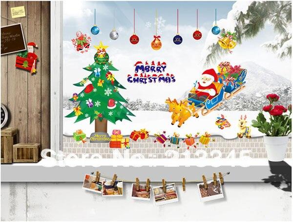 1d187 best sale fundecor merry christmas new year gift christmas tree santa claus elk car