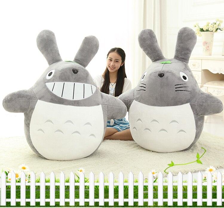 80 CM dessin animé mon voisin Totoro jouets en peluche souriant doux jouets en peluche poupées de haute qualité 2 Styles 1 pcs/lot