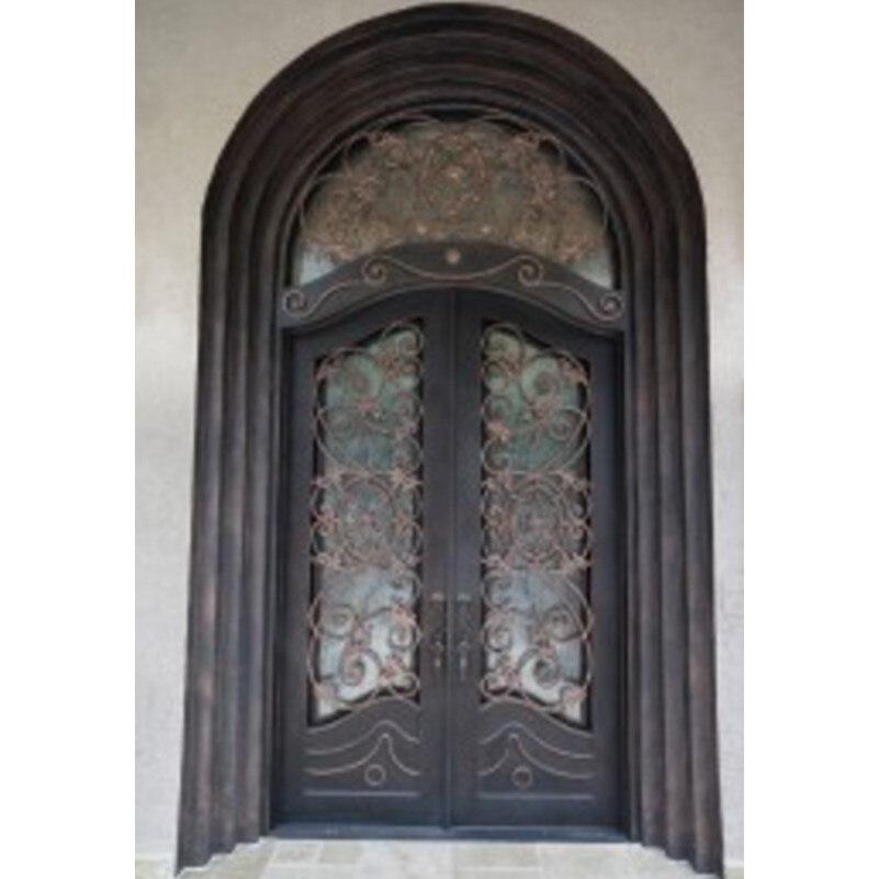Двойные французские двери распашные двойной экран безопасности дверей Двойные железные двери