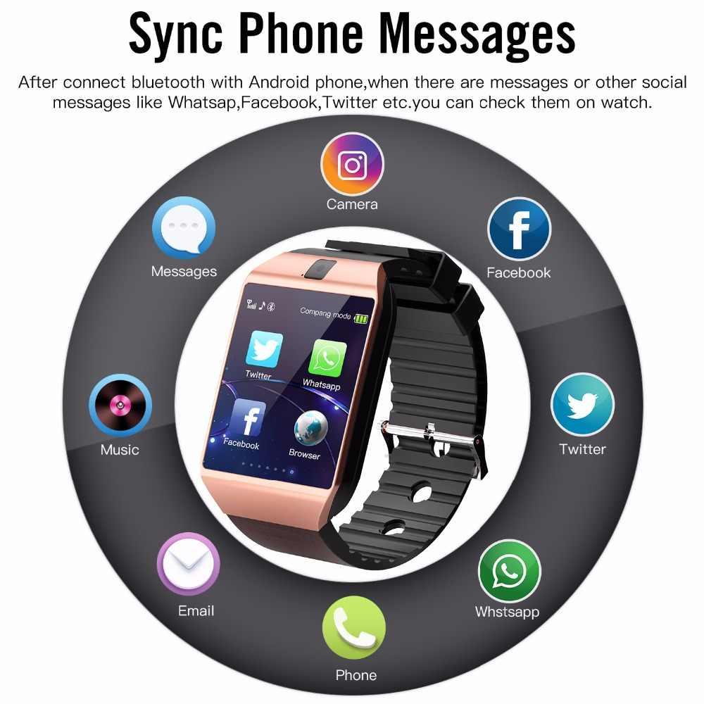Cawono ゴールド DZ09 とカメラ電話通話の Gsm SIM スマートウォッチ iphone xiaomi サムスン華為スマートフォン