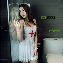 2016 New Sexy lingerie hot women Nurse Costume Halloween Cosplay perspective sling Nurse dress uniform temptation sex products
