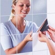 15X15 см отражающее зеркало квадратная наклейка ванная комната sittingroom креативное украшение дома