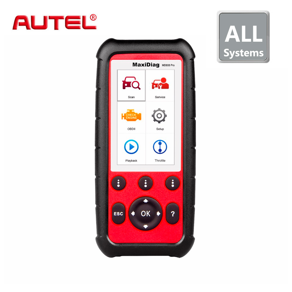 все цены на Autel MaxiDiag MD808 PRO Diagnostic Scanner tool for Engine, Transmission, SRS and ABS systems with EPB, Oil Reset, DPF, SAS,BMS онлайн