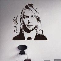 Grunge Nirvana Kurt Cobain Decalque Da Parede Vinil Adesivo Estrela do Rock Cantor Música Estúdio de Utilidades Domésticas do Projeto Da Arte do Decalque Da Parede Da Rocha