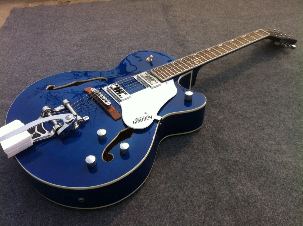 Thick Semi Hollow Body Blue Bigsby Falcon Gretsc  electric guitar Guitarra all color Accept pamuk o the museum of innocence
