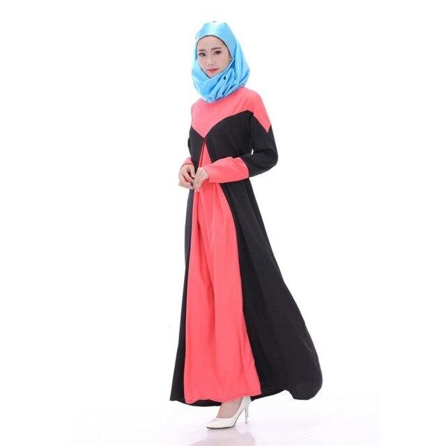 618 Novos 2017 Mulheres V intage Manga Comprida Solta Maxi Vestido Abaya Kaftan Vestidos MuslimIslamic
