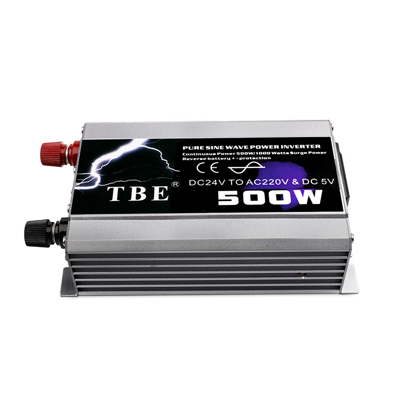 500W Pure Sine Wave Car <font><b>Inverter</b></font> DC 12V/24V TO AC 220V Auto <font><b>Power</b></font> Converter Solar <font><b>Inverter</b></font> Peak <font><b>Power</b></font> <font><b>1000W</b></font> image