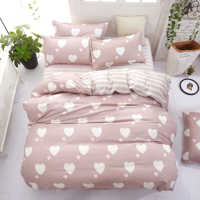 Floral Geometry Cartoon bed linen set Bedding Set Single Double Queen King Size Flat Sheet Pillow Cases 3pcs/4pcs New