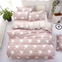 Floral Geometry Cartoon bed linen set Bedding Set Single Double Queen King Size Flat Sheet Pillow Cases 3pcs/4pcs New